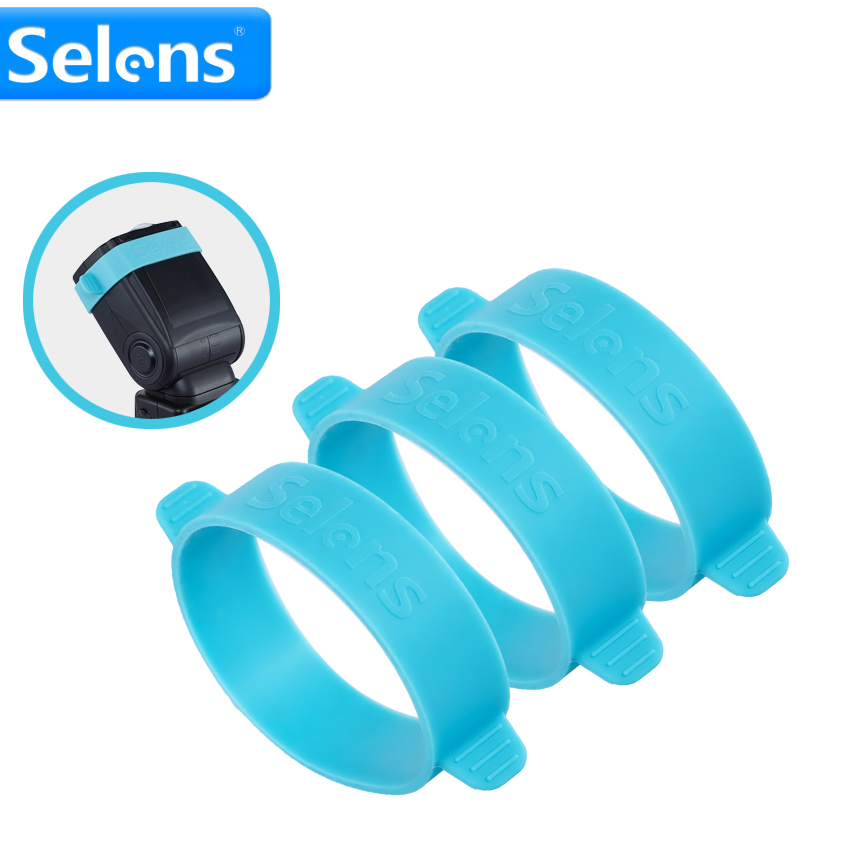 3pcs Selens Universal Rubber Gels-Band For FLash light speedlite Speedlight tying Color Gels Filter cherlamode 3pcs three color u convex pouch solid color men s band briefs