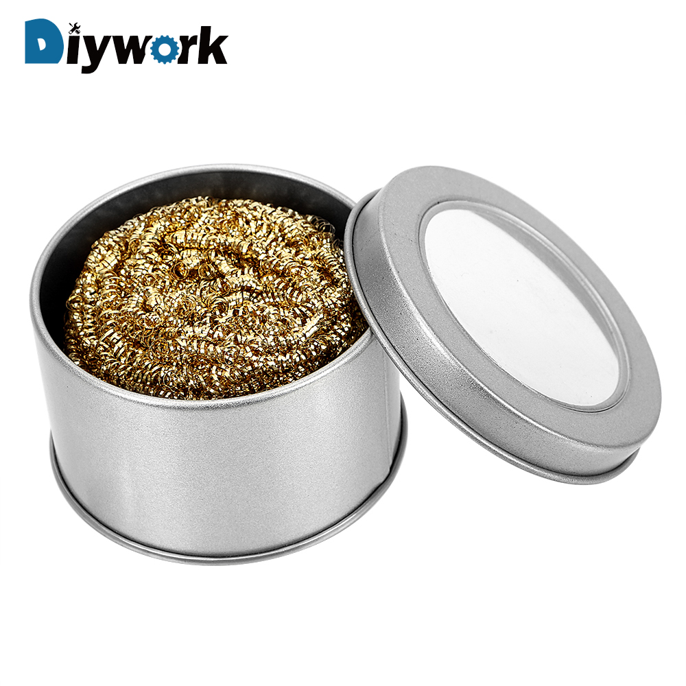 DIYWORK Welding Cleaning Ball Wiping Auxiliary Tool Welding Soldering Iron Tip Cleaner Mechanical Accessories Copper Wire Mould
