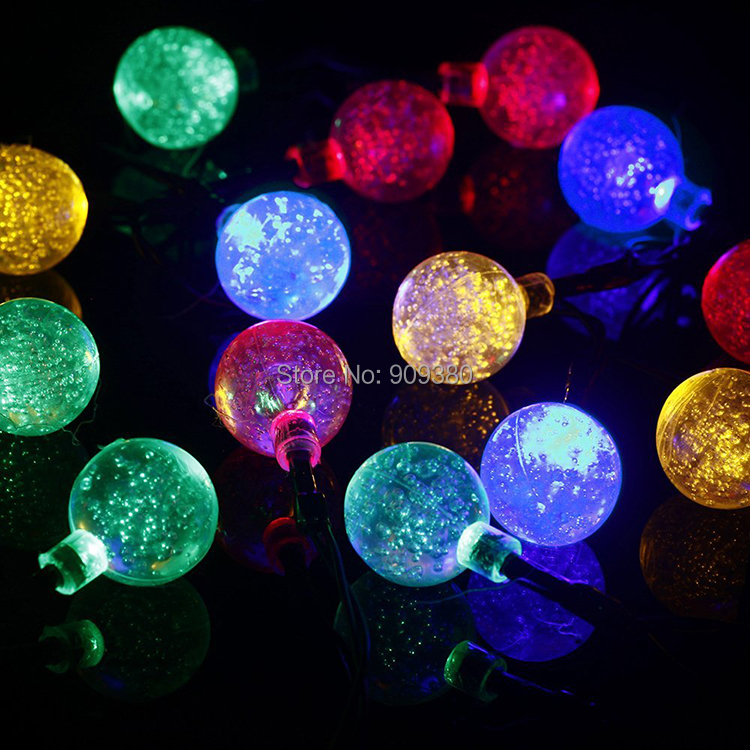 Solar 20 LED Lights Bubble Light String Of Holiday Lights Garden Garden  Outdoor Decorative Waterproof Lamp ...
