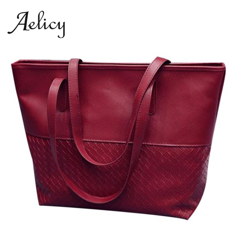 Aelicy Women Handbag Tote-Bucket-Bag Large-Capacity Fashion Ladies Daily