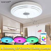 Modern RGB Dimmable 36W LED Remote Control Ceiling Light With Bubble Bluetooth Music 90 260V Modern