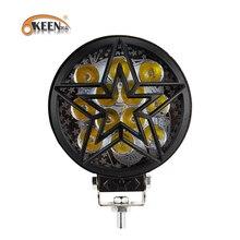 OKEEN faro LED antiniebla para coche, luz de trabajo de 12V, 28W, 3200Lm, foco de haz alto bajo, 6500K, blanco, 24V