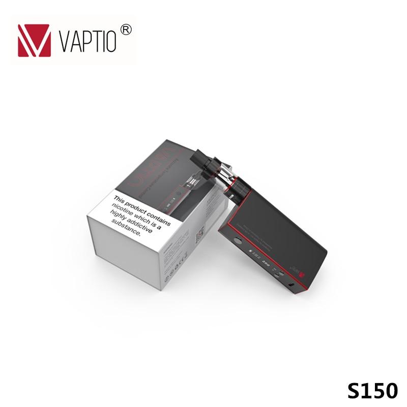 Комплект для электронной сигареты 150 Вт Vaptio S150 комплект электронных сигарет 3,0 мл распылитель VW/VT-Ni/Ti/SS/УВД vape 0,91 ''OLED Экран УВД катушки 0.4ohm