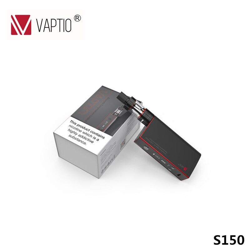 Vaporisateur KIT 150 w Vaptio S150 KIT Électronique Cigarette 3.0 ml Atomiseur VW/VT-Ni/Ti/ SS/ATC vaporisateur 0.91 ''OLED Écran ATC Bobines 0.4ohm