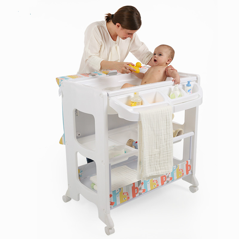 Delightful Baby Diaper Machine Nursing A Baby Massage Table With Bath Tub Can Newborn  Change Clothes(