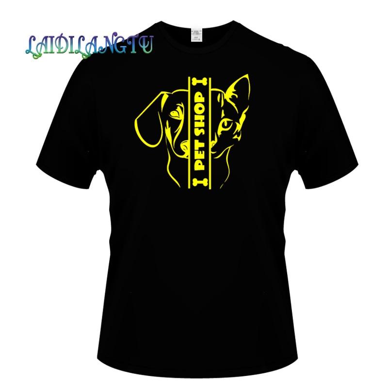 2018 men t shirt I PET SHOP Custom Men t-shirt Plus Size T Shirt Men Clothing hip hop t shirt