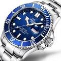 e919eace21c CARNAVAL Relógio de marca de Luxo Homens GMT Automatic Men Mecânica Relógios  Luminosos Safira Aço Inoxidável Mergulho Mens Watch C-87566
