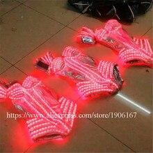 Гамма красочный светодиодные пикантные Для женщин Юбочные костюмы для женщин световой мигающий Костюмы для бальных танцев костюмы партии Dance Event атрибуты LED Костюмы