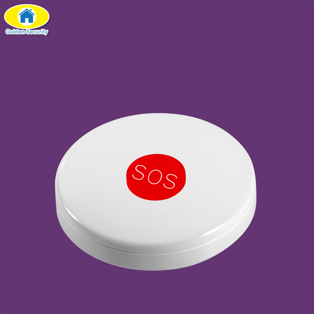 Golden Security Wireless SOS Emergency Panic Button for G90B Plus S1 A02 S5 3G Smart House Home Security System DIY Kit 2 receivers 60 buzzers wireless restaurant buzzer caller table call calling button waiter pager system