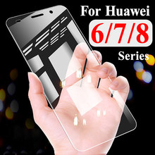 Protective Glass On Honor 6C Pro Tempered For Huawei Honer 8X 7X 6A 8C Screen Protector Hawei 6 7 8 C X Huavei Armor Sheet Case(China)