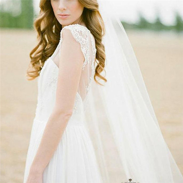 2 Meters Long Bridal Veil With Comb