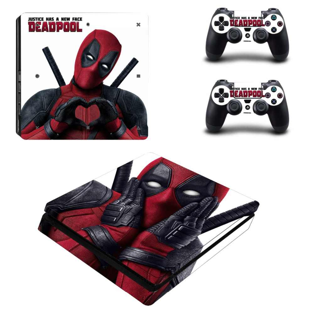 Deadpool PS4 Slim Decal Protective Skin Cover Sticker for PS4 Slim Console & Controller Vinyl