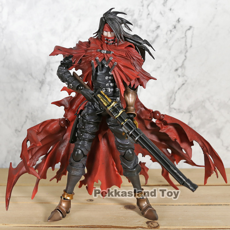 Play Arts <font><b>Final</b></font> <font><b>Fantasy</b></font> <font><b>7</b></font> Vincent Valentine Action Figures Dirge of Cerberus BJD Collectible Toys image