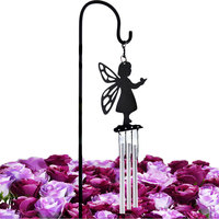 Pastoral Classical Natural Wind Chime Hanging Figurines Handicrafts Flower Potted Wind bell Entrance Garden Decorations Gifts