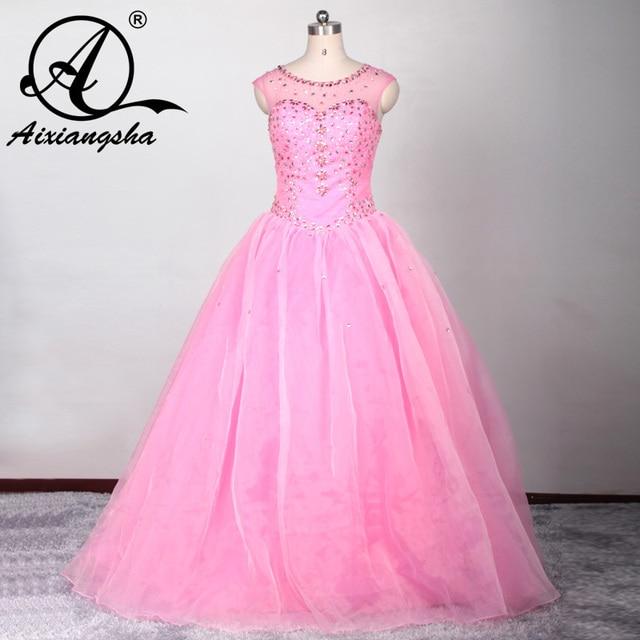 2017 Azul Rosado del vestido de bola vestidos de quinceañera de Tul ...