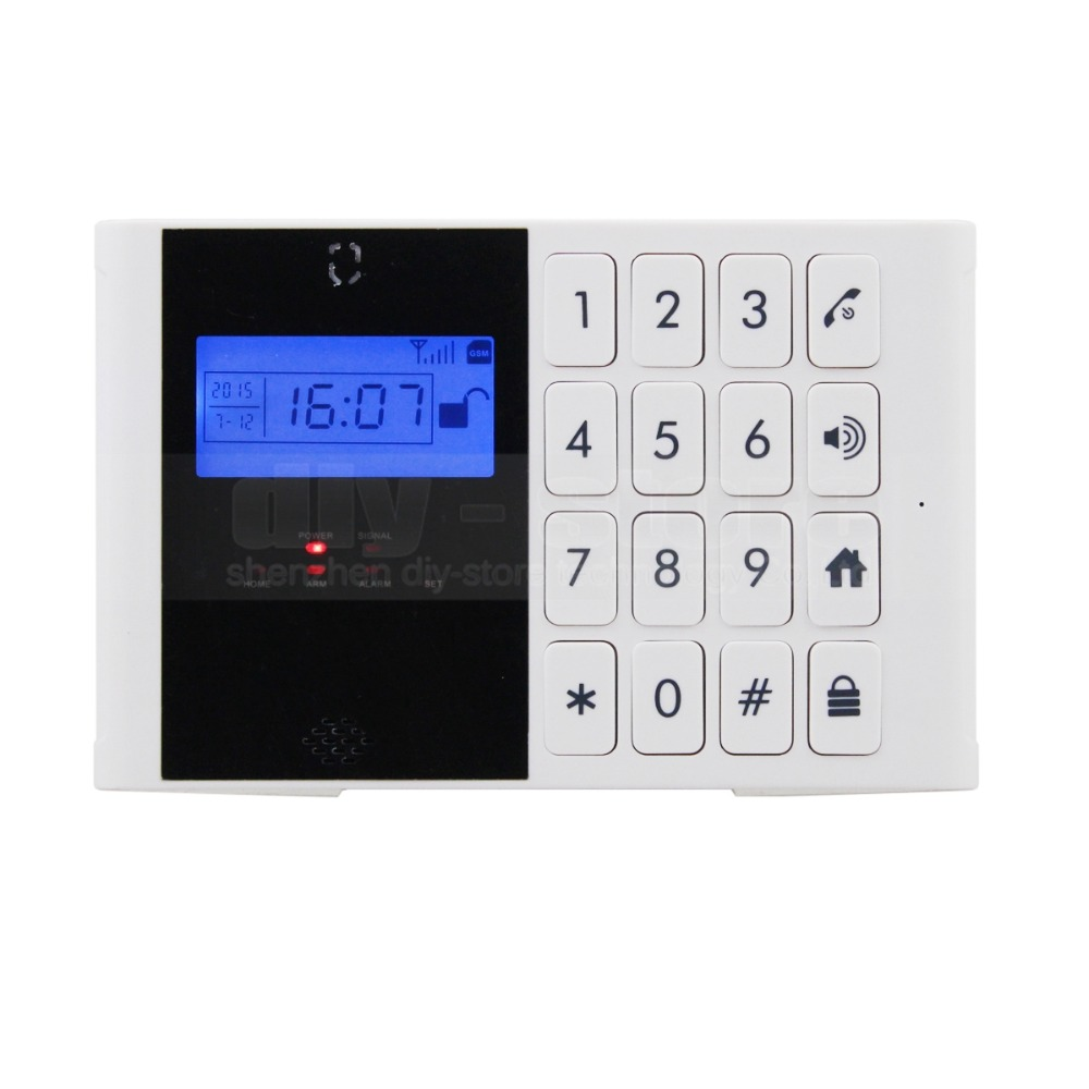 DIYSECUR Wireless GSM SMS Intercom Monitor Security Home font b Alarm b font System LCD Screen