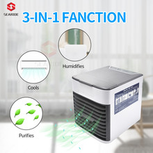 Mini portable USB Air Conditioning Fan wind natural ventilator Air Purifier Humidifier Cooler fans 7 Colors LED light for Home