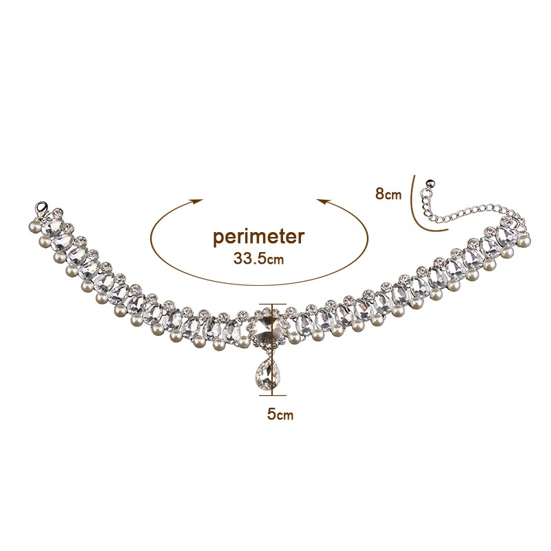 HTB15ryUMVXXXXXeXXXXq6xXFXXXt Luxurious Pearls And Crystals Statement Choker Collar Necklace With Pendant Charm - 8 Styles
