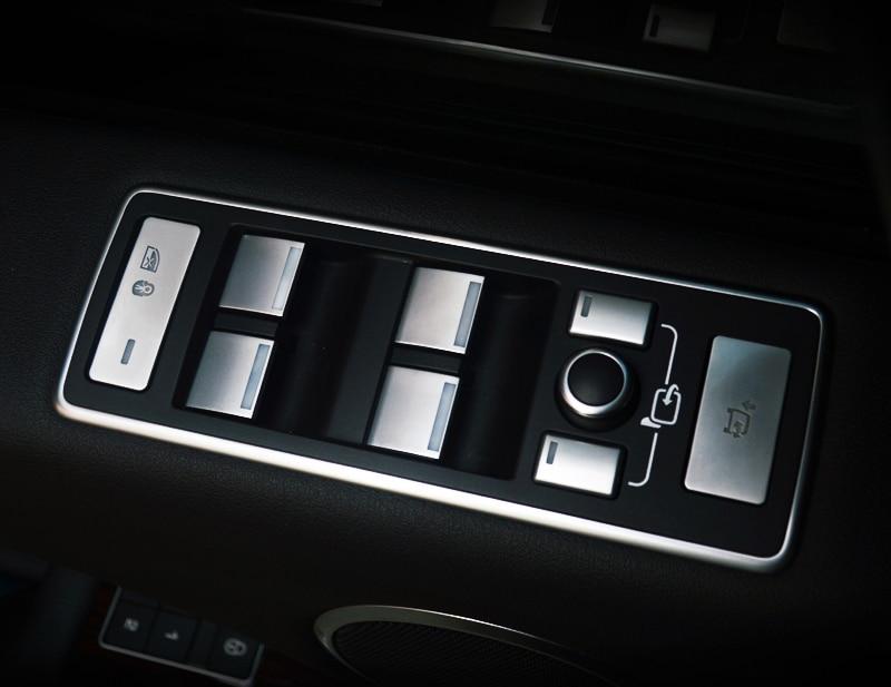 11pcs Car Door Armrest Window Lift Button Cover Trim Styling Sticker For Range Rover Vogue 2013