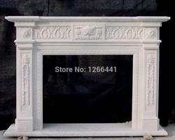 marble fireplace mantel surround English style living room stone fireplace custom made