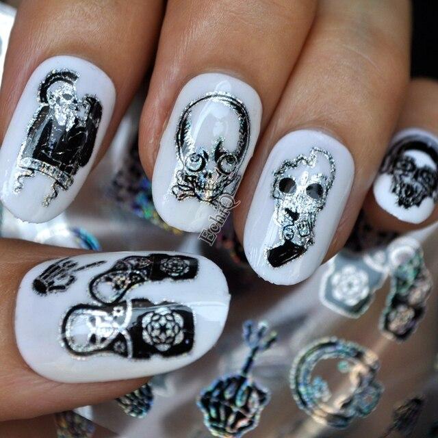 Puck Style Nail Art Transfer Foil Zombie Love Single Image Head Nail