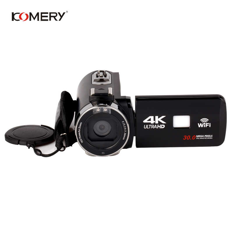 KOMERY Original Video Camera Wifi Night Vision 3.0 Inch LCD Touch Screen Time-lapse Photography Camera Fotografica With Mic