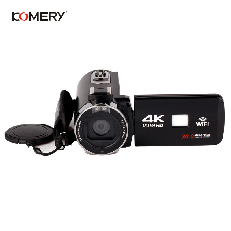 KOMERY Original Video Camera Wifi Night Vision 3.0 Inch LCD Touch Screen Time-lapse Photography Camera Fotografica With MicKOMERY Original Video Camera Wifi Night Vision 3.0 Inch LCD Touch Screen Time-lapse Photography Camera Fotografica With Mic