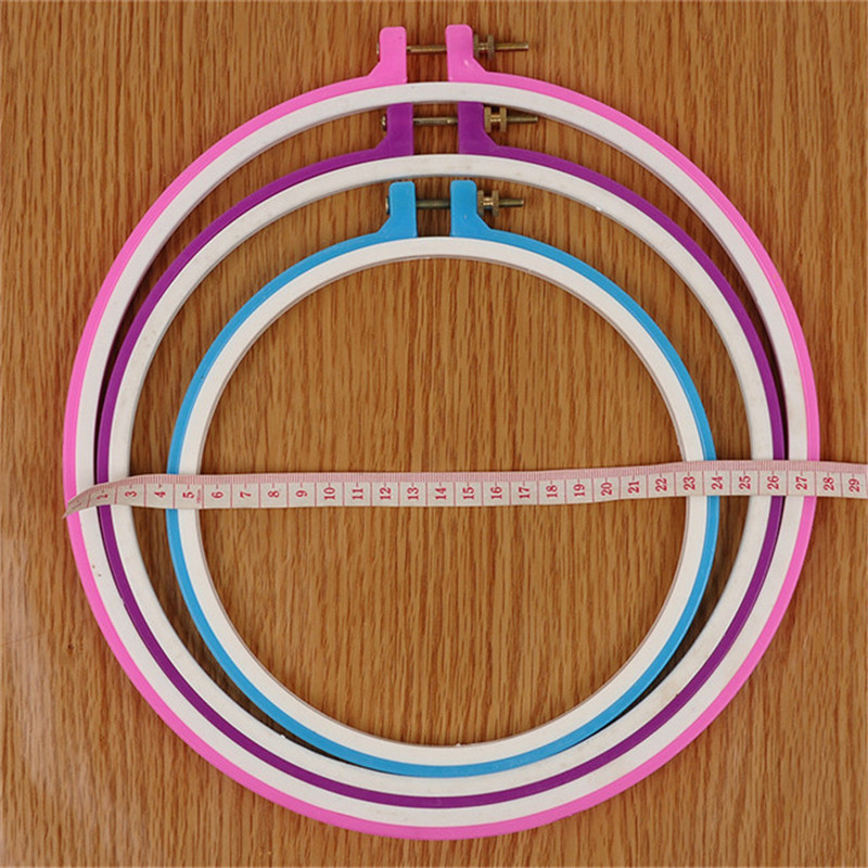 DIY Plastic Embroidery Cross Stitch Tapestry Ring Hoop Frame Sewing Tools