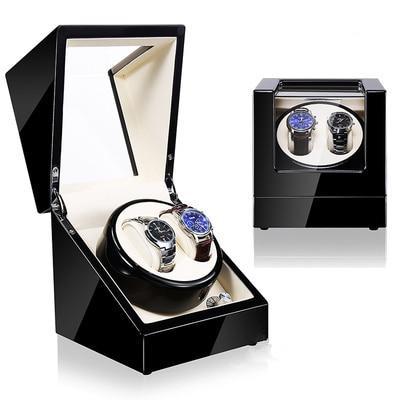 Black Wood Watch Winders New Design Automatic Self Watch Winder For Mechanical Watches Fashion Watch Storage Organizer Holder | Watch Boxes