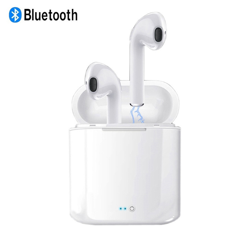 i7s TWS Mini Bluetooth Wireless Earphone Earbuds With Charging Box Headphone Sports Headsets Android Audifonos For Mobile Phone magnetic attraction bluetooth earphone headset waterproof sports 4.2