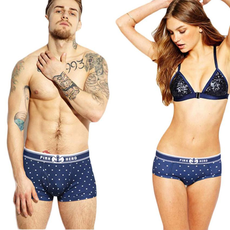 PINK HEROES 2017 Male Panties Sexy Underwear Mens Boxers Quality Modal Couples Underpant Shorts Men Boxer Blue Hombres boxeador