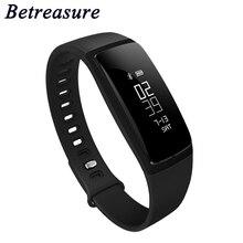 Betreasure BW08 Smart Band Bluetooth сердечного ритма Мониторы Фитнес браслет Спорт Приборы для измерения артериального давления Шагомер Смарт-браслет