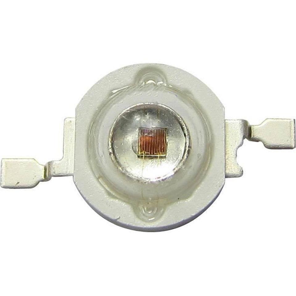 100pcs 660nm 3W 42mil 2.4V 700mA EPILEDS Deep Red LED Beads Diodes Plant Grow LED Grow Light Part