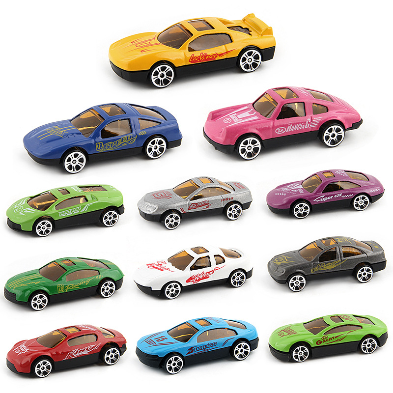 12pcs/lot 1:64 High Simulation Car Toy Miniature Gliding Alloy Model Cars Toys For Children Kids Boys Gift