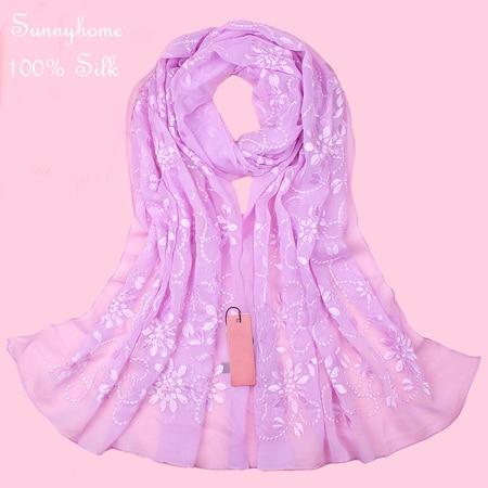Шелковые Аксессуары для волос повязки для женщин шапочка под хиджаб шапки для мусульманский, арабский шарф для девочки новинка брендовые Дизайнерские шарфы - Цвет: purple flower