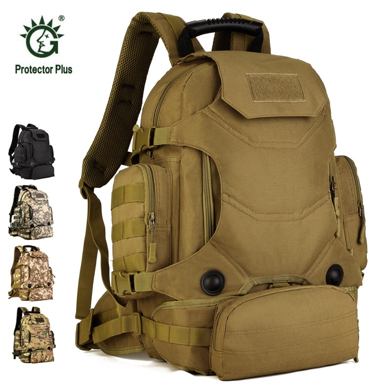 40L Sport Bag Molle Tactical Backpack 3 Combination Waterproof Backpack Camouflage Outdoor Trekking Hiking Camping Bag Molle 55l molle combination backpack hiking camping mountaineer military backpack outdoor bag tactical trekking rucksack backpack camo