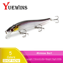 Купить с кэшбэком  YUEWINS Minnow Fishing Lures Wobblers 3D Eyes isca artificial 11.5cm 15g Pesca Hard Bait Swimbait Crankbait Fish TP241