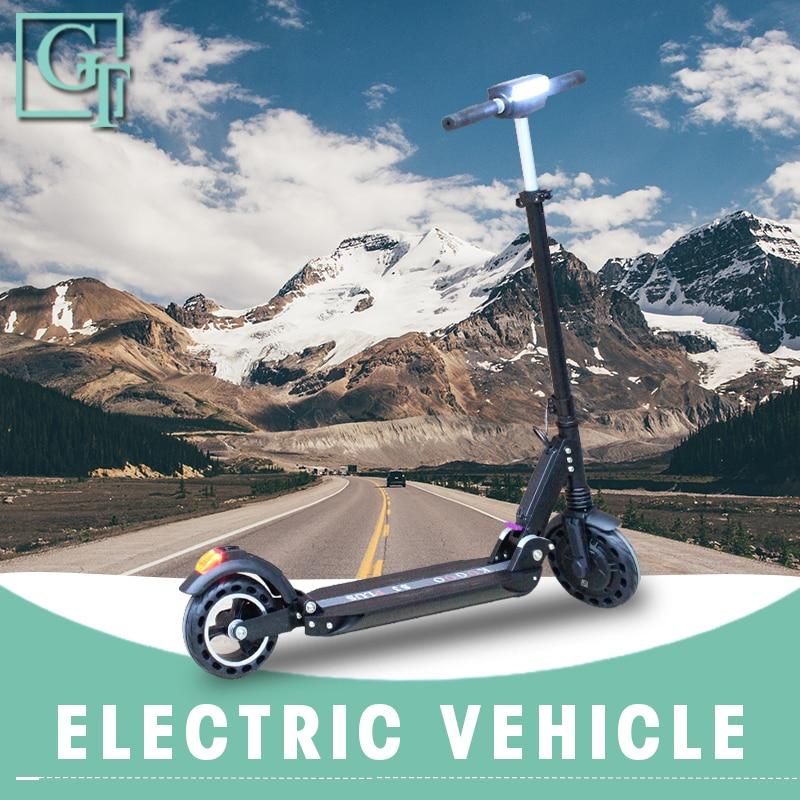 KUGOO S3 Scooter électrique Samokat adulte 36V 350W fort puissant ultra-léger léger longue planche hoverboard vélo pliable
