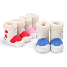 High-help lambs baby snow boots women cartoon thick baby winter shoes warm baby shoes 0-1dC-385(China)
