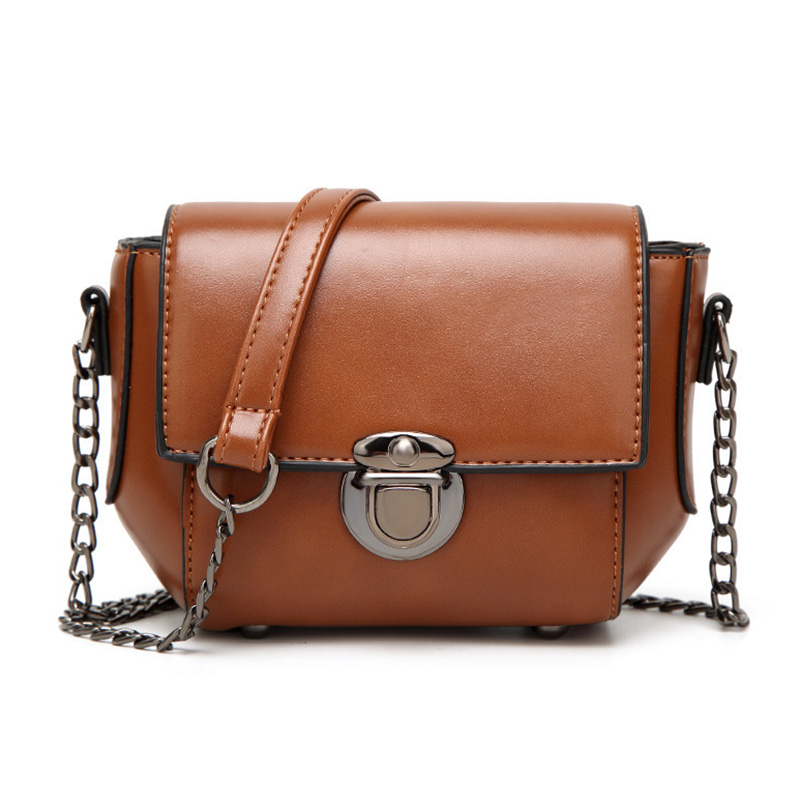 Women Shoulder Bag PU Leather Handbags Chain Strap Small Packages Fashion Messenger Crossbody Bags Brown Wine Red yuanyu 2018 new hot free shipping import crocodile women chain bag fashion leather single shoulder bag small dinner packages