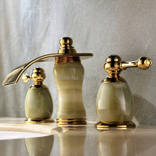 Gold clour 8 inch widespread 3 pieces bathroom Lavatory Sink faucet Mixer  tap Free ship stone3 piece bathroom sink faucet online shopping the world largest 3  . 3 Piece Bathroom Sink Faucet. Home Design Ideas