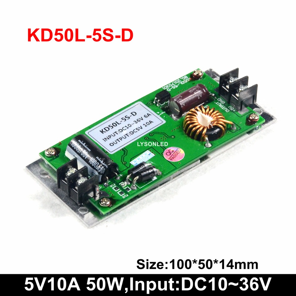 5V10A 50W Bus Led Message Display Slim Power Supply , DC24V Input Voltage Ultra P3 P4 P5 P6 P8 P10 Led Display Power Supply