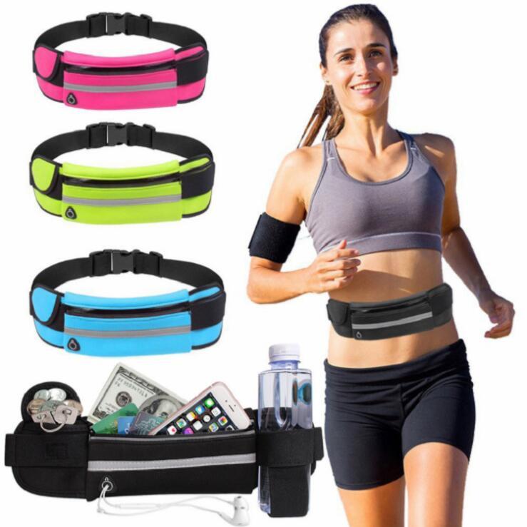 Sport Outdoor Phone Waist Bag Waterproof Breathable Mobile Phone Card Holder Jogging Belt Belly Bag Women Gym Fitness Bag Unisex