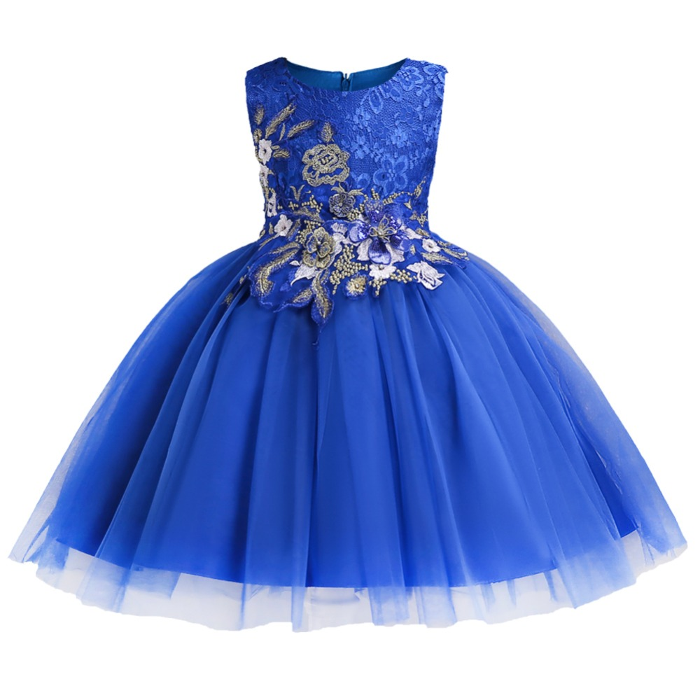 Girls Flower Dress Baby Costume Children's Party Dress First Communion Dresses Kids Clothes Little Ladies Dress Vestido Comunion