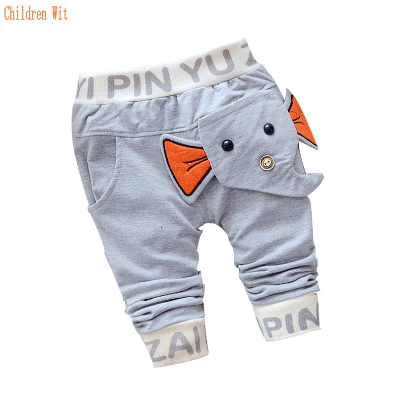 2016 new spring&autumn baby pants cotton elephant style baby boys/girls pants 1 piece 0-2 year kids pants Casual pants