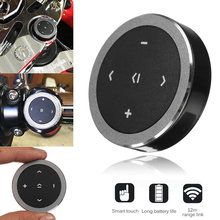 Mayitr 1pc Wireless Bluetooth 3.0 Media Button Car Motorcycle Steering Wheel Music Play Remote Control for iOS/Android