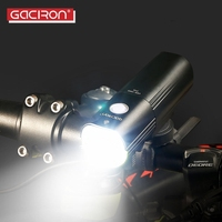 GACIRON Waterproof 1000 Lumens Bicycle Headlight Flashlight For Bicycle MTB Front LED Torch Light Power Bank Bike Accessories