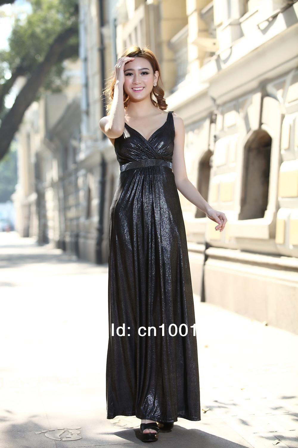 Black Evening Formal Party Ball Gowns Dress Holiday Maxi Dress-in ...