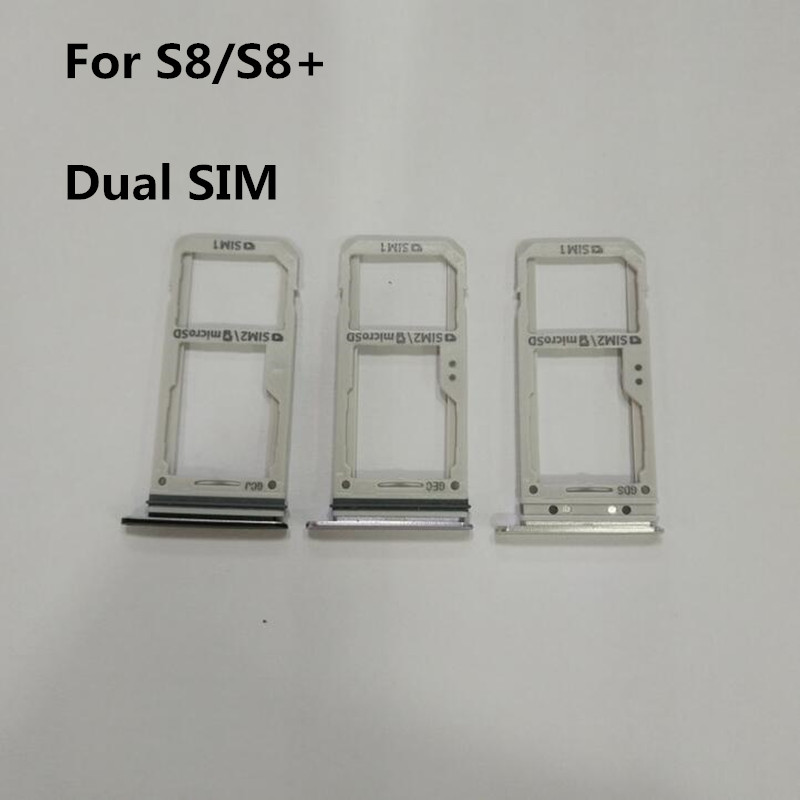 Samsung Galaxy S8 Sim Karte.Us 4 5 1pcs Dual Single Sim Card Slot Sd Card Tray Holder Adapter For Samsung Galaxy S8 G950 S8 Plus G955 In Sim Card Adapters From Cellphones
