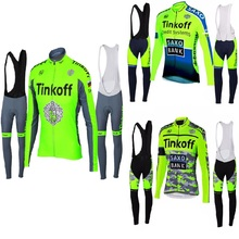 ФОТО mallots de cliclismo invierno tinkoff 2018 cycling clothing cullote ciclismo hombre winter thermal fleece bicycle bike jersey